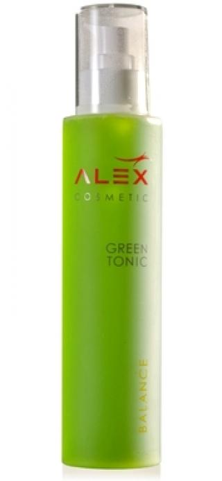 Мягкий увлажняющий тоник с растительными экстрактами и гиалуроновой кислотой Алекс Косметик Green Tonic Alex Cosmetic