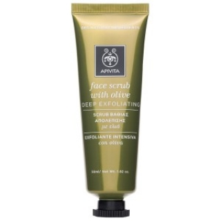 Скраб для глубокого очищения с Оливкой Апивита face masks scrubs olive Apivita