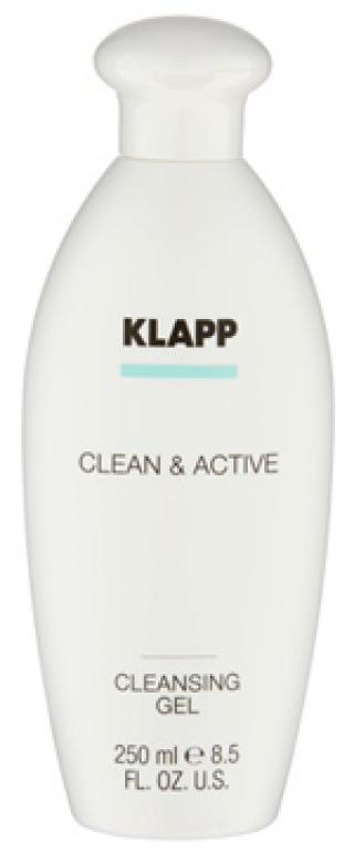 Очищающий гель для жирной и комбинированной кожи Клапп Clean & Active Cleansing Gel Klapp