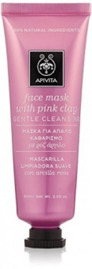 Очищающая маска из розовой глиной Апивита MASK WITH PINK CLAY Apivita