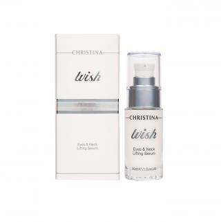 Омолаживающая сыворотка для кожи век и шеи Кристина Wish Eyes & Neck Lifting Serum Christina