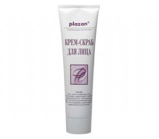 Крем-скраб для лица- глубокая детоксикация Плазан Cream Facial Scrub Plazan