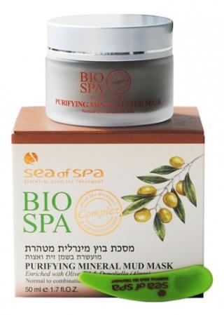 Маска минеральная грязевая очищающая для нормальной и комбинированной кожи  с оливковым маслом и водорослью Дуналиелла Си Оф Спа Purifining Mud Mask Sea Of Spa
