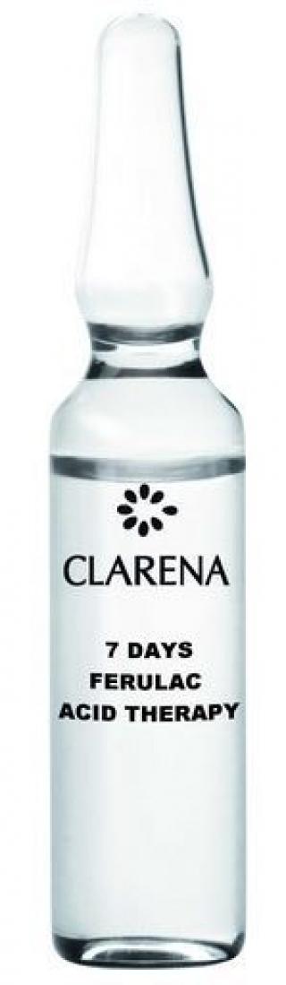 7-дневная осветляющая, противоморщинная процедура подготовки кожи в домашних условиях Кларена Acid line 7 days Ferulac Acid Therapy Clarena