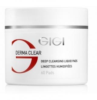 Влажные спонжи для пилинга с кислотой Джи Джи DERMA CLEAR Deep Cleansing Liquied Pads Gigi