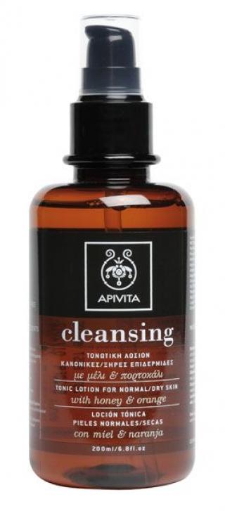 Лосьон тонизирующий для нормальной и сухой кожи с медом и апельсином Апивита Tonic Lotion Normal/Dry Skin Apivita