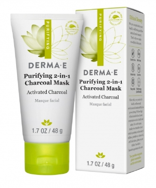 Очищающая угольная маска 2-в-1 Дерма Е Purifying 2-in-1 Charcoal Mask Derma E