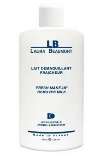 Очищающее молочко для всех типов кожи Лаура Бомонт FRESH MAKE UP REMOVER MILK Laura Beaumont