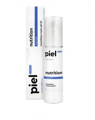 Ежедневный дневной уход за лицом для всех типов кожи Пьель косметикс Youth Defence Silver cream NUTRITION SPF20 Piel cosmetics