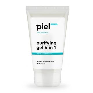 Гель для умывания для проблемной кожи Пьель косметикс Pure Salvation PURIFYING GEL CEANSER 4in1 Piel cosmetics