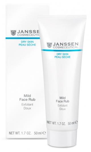 Мягкий скраб с гранулами жожоба Янссен Mild Face Rub Janssen