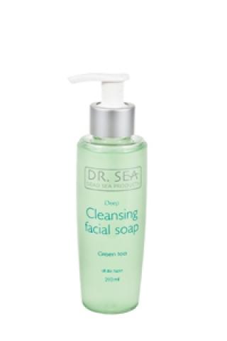 Мыло для глубокого очищения лица с экстрактом зеленого чая Доктор Си Cleansing facial soap Dr. Sea