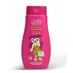 Гель для душа детский для волос и тела аромат Клубника для девочек Корин Де Фарм Shower gel for children's hair and body fragrance Strawberry Girls Corine de Farme