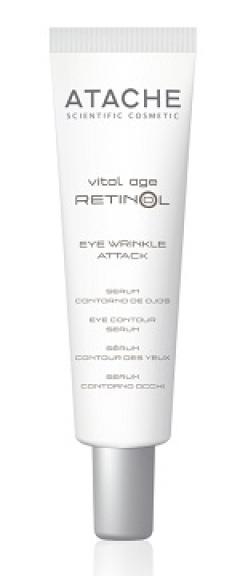 Крем с ретинолом против морщин для глаз Атаче Eye Contour Wrinkle Attack Atache