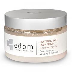 """Смягчающий скраб для тела """"Кокос и ваниль"""" Эдом Softening Salt Body Scrub Coconut Vanilla Edom"""