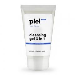 Гель для умывания для жирной и комбинированной кожи Пьель косметикс Youth Defence PURIFYING GEL CEANSER 3in1 Piel cosmetics