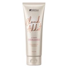 Оттеночный шампунь Индола Blond Addict PinkRose Shampoo Indola