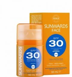 Крем для лица и шеи с высокой защитой от солнца SPF 30 + и UVA Тебискин SUNWARDS Face Cream SPF 30+ Tebiskin
