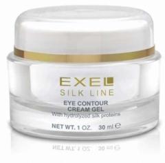 Контурный гель для век с гидролизованными протеинами шелка Биокосметика Эксель Eye contour cream gel Biocosmetica EXEL