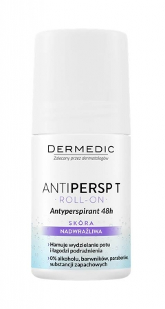 Антиперспирант без запаха для сверхчувствительной кожи, без парабенов и спирта Дермедик Antipersp T 48h Anti-Perspirant Deodorant Dermedic
