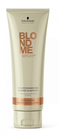 Шампунь для светлых волос и волос, окрашенных в теплые оттенки Blonde Color Enhancing Rich Caramel Schwarzkopf Professional