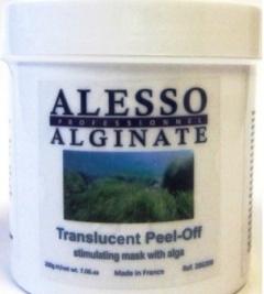 Стимулирующая альгинатная полупрозрачная маска с морскими водорослями Алессо Stimulating translucent algae mask with seaweed Alesso
