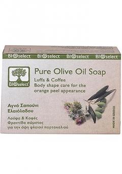 Натуральное мыло с оливковым маслом, люффой и экстрактом гуараны БиоСелект Soap organic for anticellulite body care BIOSelect