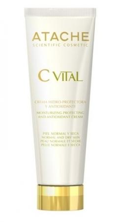 Увлажняющий защитный антиоксидантный крем для нормальной и сухой кожи Атаче C Vital Cream Normal & Dry Skin Atache