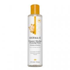 Мицеллярная очищающая вода с витамином С, пробиотиками и чаем ройбуш Дерма Е Vitamin C Micellar Cleansing Water Derma E