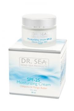 Увлажняющий крем с маслами облепихи и манго SPF 25 Доктор Си Moisturizing cream with sea buckthorn oil and mango SPF 25 Dr. Sea