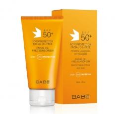Солнцезащитный крем для жирной кожи лица SPF 50+ Бэйби Лабораториз Fotoprotector facial Oil-Free Sunscreen Babe Laboratorios