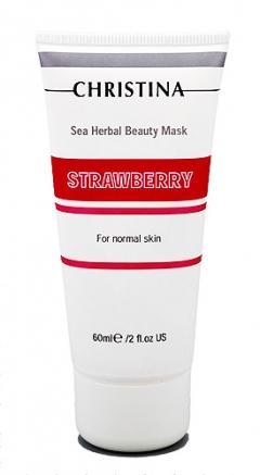 Клубничная маска красоты для нормальной кожи Кристина Sea Herbal Beauty Mask Strawberry Christina
