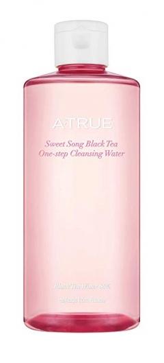 Одношаговая очищающая вода для лица Sweet Song Black Tea A-True