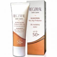 Солнцезащитный крем с выраженным регенерирующим и увлажняющим действием с защитой SPF 50+ Свит Скин Систем Regenyal Sun Care SPF 50+ Sweet Skin System