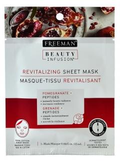 Тканевая маска восстанавливающая Гранат и Пептиды Фриман Beauty Infusion Revitalizing Pell-Off Mask Freeman