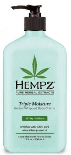 Нежный увлажняющий крем для тела тройного действия Хемпз Triple Moisture Herbal Whipped Body Creme Hempz