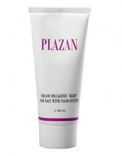 Крем коллагеновый ночной для лица с нано - системой Плазан Night cream collagen facial nano - system Plazan