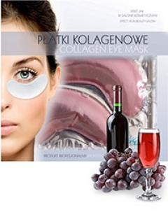 Коллагеновый пластырь для глаз с красным вином Бьюти Фейc Kolagen poprawka oka z czerwonego wina Beauty face