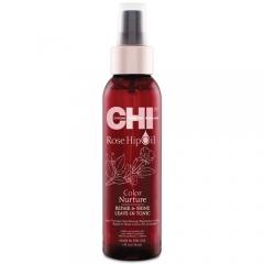 Несмываемый спрей с маслом розы и кератином  Чи Rose Hip Oil Repair&Shine Leave-In Tonic Chi