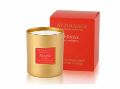 Ароматическая свеча Клубника Аттиранс Aromatic Strawberry Glass Candle Attirance