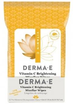 Салфетки для лица с осветляющей мицеллярной пропиткой с витамином С Дерма Е Vitamin C Brightening Micellar Wipes Derma E