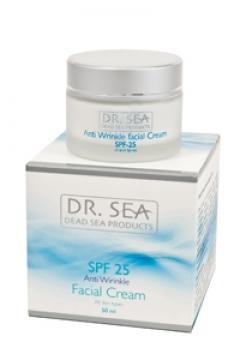 Крем для лица против морщин SPF 25 Доктор Си Anti wrinkle faciale cream SPF 25 Dr. Sea