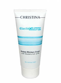 Увлажняющий азуленовый крем с коллагеном и эластином для нормальной кожи Кристина Elastin Collagen Azulene Moisture Cream Christina