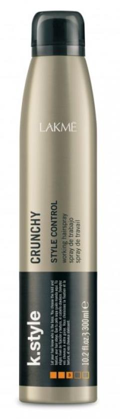 Лак для волос сильной и эластичной фиксации Лакме K.Style Crunchy Style Control  Lakme