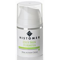Крем для жирной кожи двойного действия Anti-age Хистомер OILY SKIN dual action cream Histomer