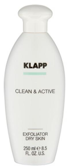 Эксфолиатор для сухой кожи Клапп Clean & Active Exfoliator Dry Skin Klapp