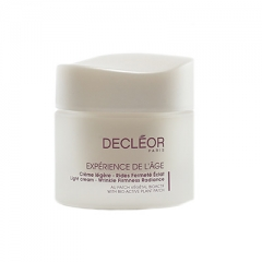 Антивозрастной крем-эмульсия тройного действия Деклеор Experience De L'age Light Cream Wrinkle Firmness Radiance Decleor