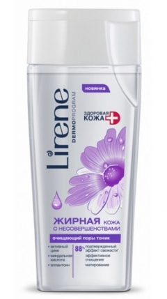 Очищаюший поры тоник для жирной кожи Лирен Oily and Combination Skin Cleansing Tonic Lirene