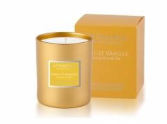 Ароматическая свеча Мед и ваниль Аттиранс Aromatic Honey-Vanilla Glass Candle Attirance