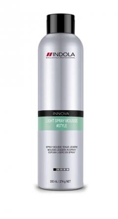 Легкий спрей-мусс для волос Индола Light Spray Mousse Indola